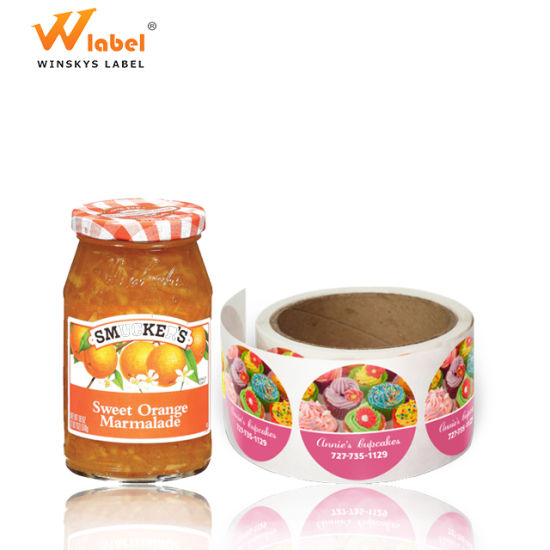 Factory Wholesale Waterproof Labels for Jam Jar, Custom Labels for Jars,  High Quality Adhesive Food Jar Labels