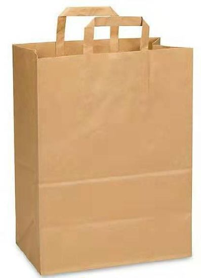 Cheap Machine Made Kraft Paper Bags with Paper Handle