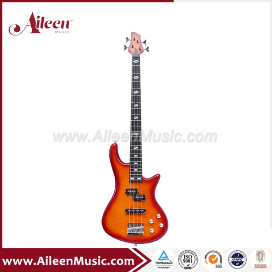 Okoume Body with Flamed Maple Top 4 Strings Electric Bass (EBS724-2)