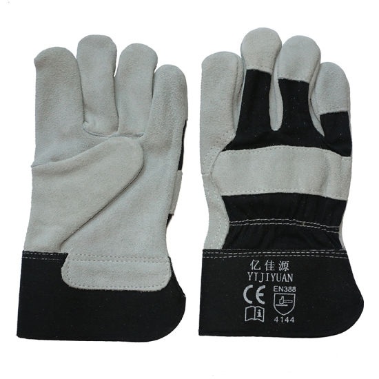 Full Palm Cowhide Split Leather Protective Hand Work Glove with Ce En388 pictures & photos