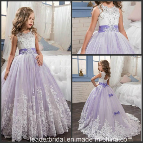 China Lace Girls Formal Gown Purple Wedding Flower Girl Dress F20158 China Flower Girl Dress And Junior Bridesmaid Dress Price,Semi Formal Wedding Guest Dress Code