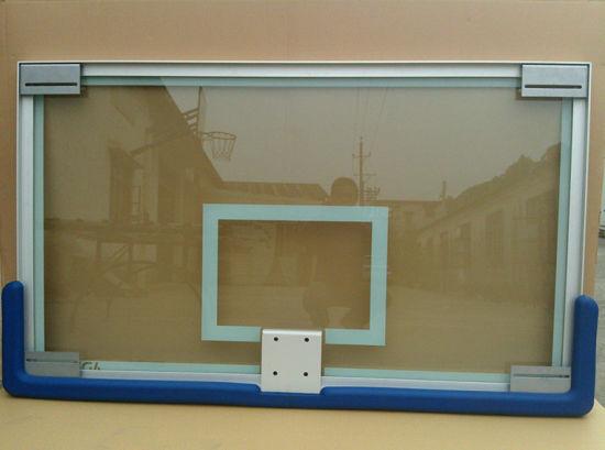 All aluminum Frame, Tempered&Insulation Glass Basketball Backboard Factory