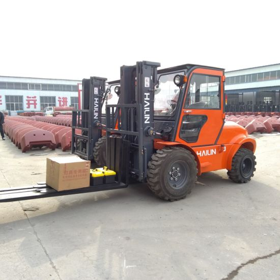 3.5ton Rough Terrain Forklift with Cabin, High Quality