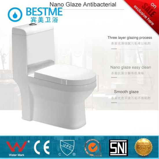 One Piece Washdown Dual Flush Water-Saving Toilet for Projects (BC-1025A) pictures & photos
