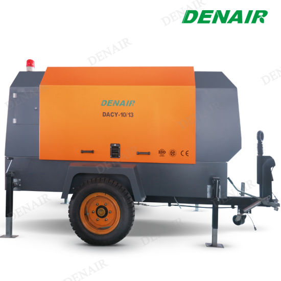 Mobile Air Compressor >> Two Wheels Tires Water Cooling Mobile Air Compressor With Jackhammer