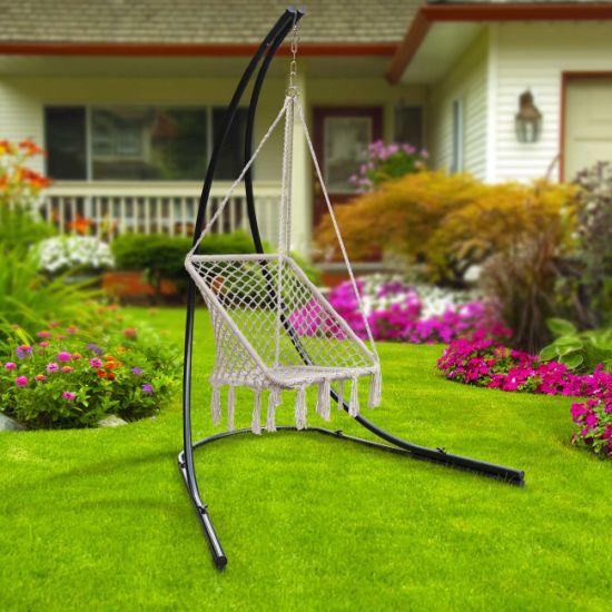 China Hammock Chair Square Macrame Swing 265 Pound Capacity