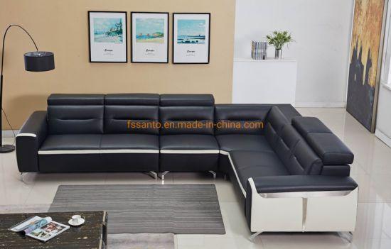 Modern Fashion Sectional Sofa Set Corner Style Leather Sofa Dubai Sofa  Furniture Corner Sofa Living Room Furniture