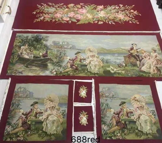 China Handwoven Flat Weave French Aubusson Sofa Chair Covers
