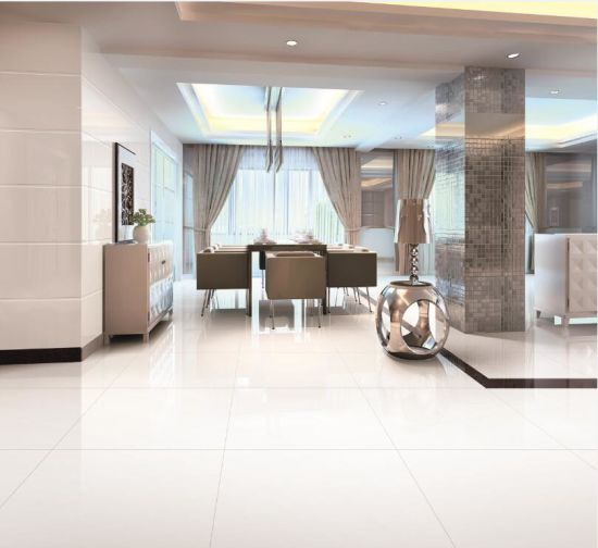China Super White Polished Porcelain Floor With Good Price China