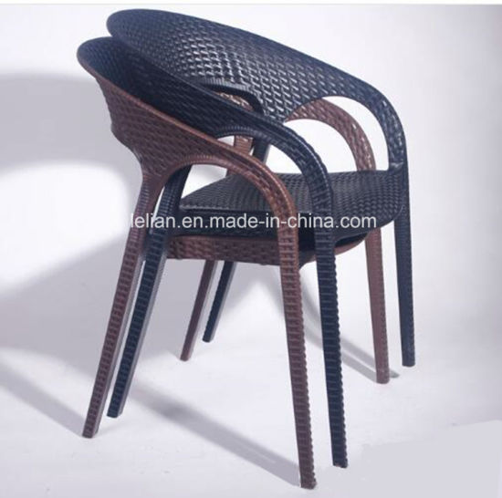 China Plastic Poly Rattan Chair For