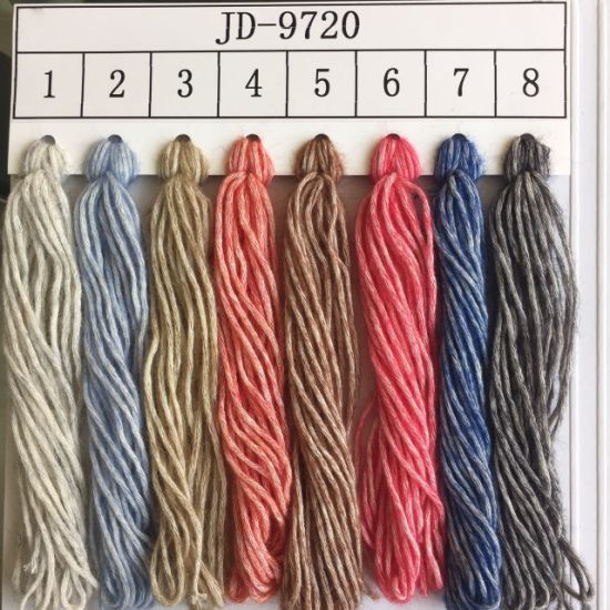 Spray Fiber Fancy Knitting Yarn Jd9720 pictures & photos