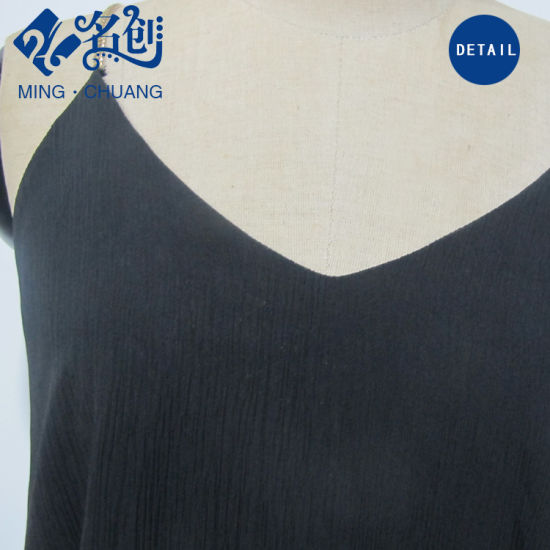 Black Thin Breathable Sexy Fashion Women Slip Dress pictures & photos