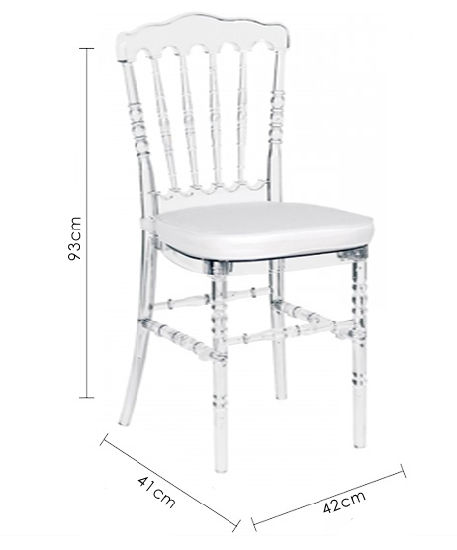 Resin Chair Clear Napoleon Tiffany Wedding Event Use Dining Room Furniture