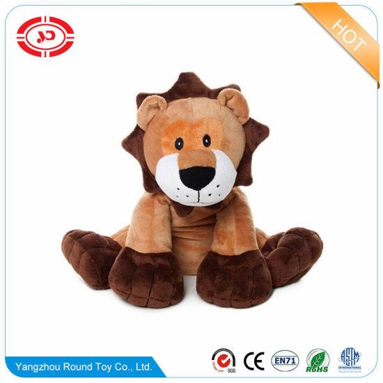 Stuffed Animal Plush Lion Wear Blue T-Shirt Cute Tiny Toy