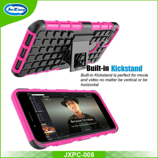 China New Design Shockproof Rugged Hybrid Rubber Hard Back Cover