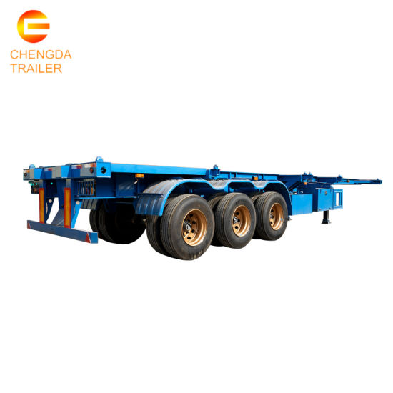 2/3/4 Axle Heavy Duty 40FT Flatbed/Plateform Utility/Cargo/Container Chassis Truck Semi Trailer with Twist Lock