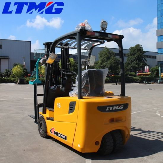 Ltmg 3-Wheel Battery 1.6 Ton 1.8 Ton 2 Ton Electric Forklift with AC Power
