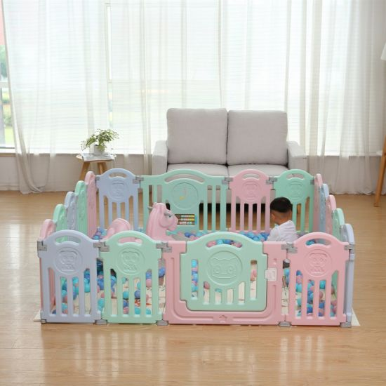 12+2 Little Bear Kids Playpen Children Fence Baby Play Yard