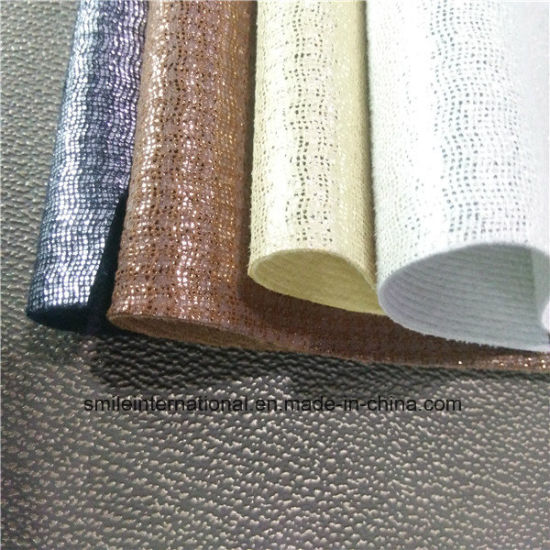New Design PU Shining Synthetic Leather for Shoes, Handbags pictures & photos