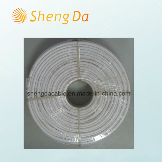 High Braiding Coverage and Good Performance Shielding of RG6 95% Coax Cable pictures & photos
