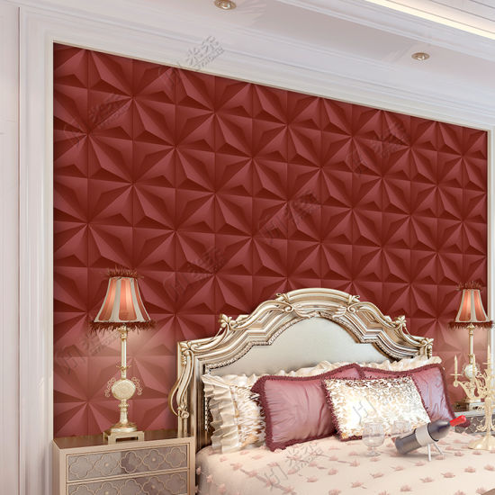 China Modern Design Wall Paper Living Room Wall Decoration 3d Pvc