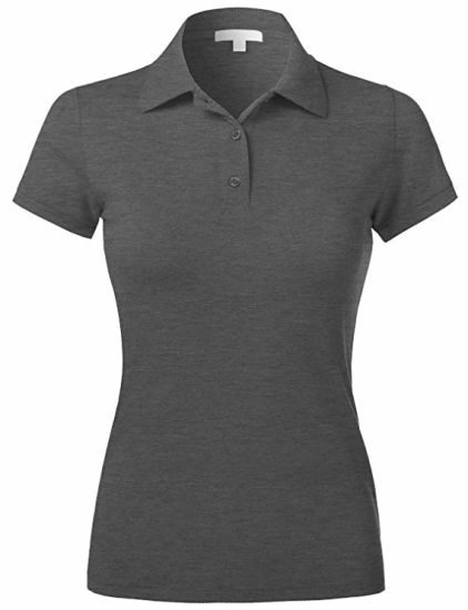 Wholesale High Quality Custom Printing Plain Short Sleeve Cotton Women Polo Shirt with Your Logo