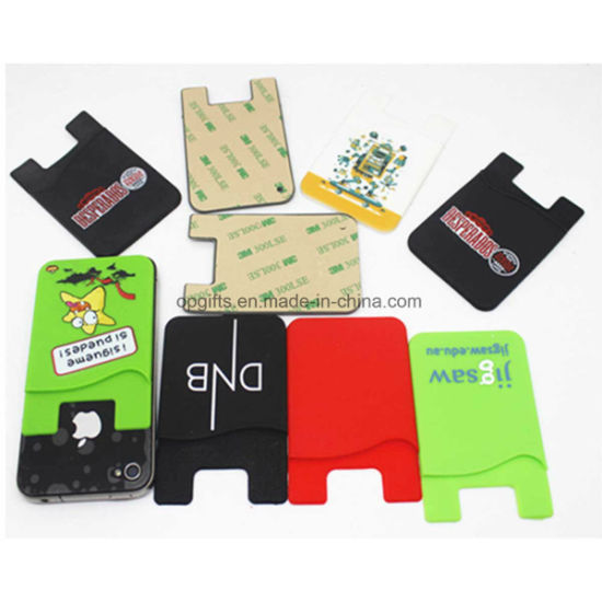 Custom 3m Silicon Card Holder for Mobile pictures & photos