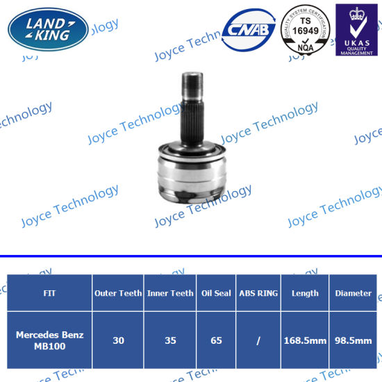 OEM Factory Auto Spare Parts Outer CV Joint Me-003 for Mercedes Benz MB100