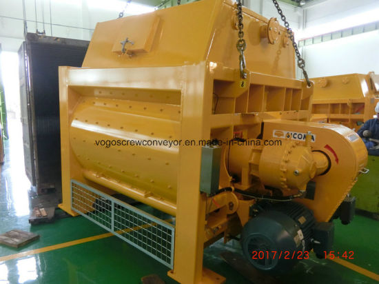 3.5CB. M Sicoma Twin Shaft Concrete Mixer for Batching Plant