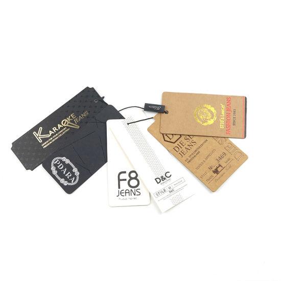 b647506e4 Custom Garment Jean Shoe Clothing Jewelry String Swing Kraft Paper Hanging  Price Brand Hang Tag. Get Latest Price