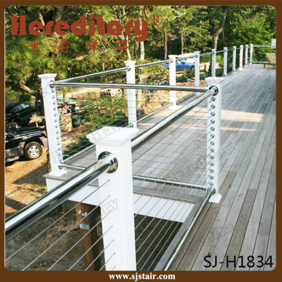 China Indoor Wire Rope Railing System Stainless Steel Stair Railing ...