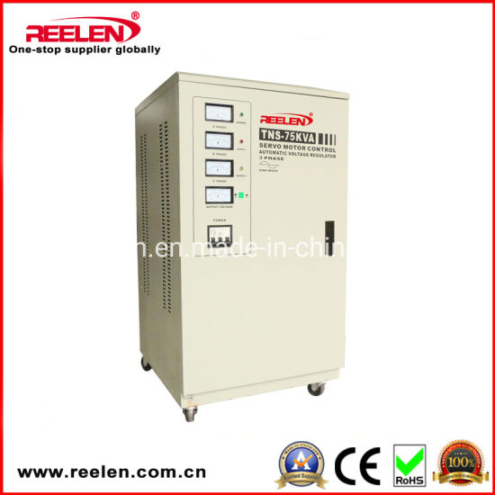 75kVA Three Phase Full Automatic Compensated AC Voltage Stabilizer Tns-75kVA pictures & photos