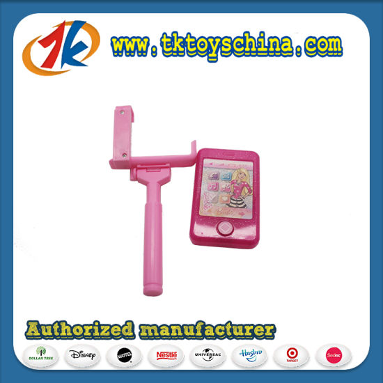 Fashion Plastic Mobile Phone with Selfie Stick Toy for Kids
