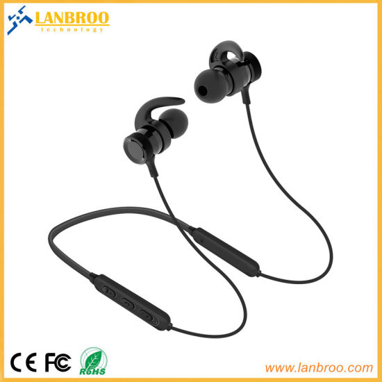 Neck Style Bluetooth Magnet Wireless Earphone Ipx7 Water-Proof China OEM Factory pictures & photos
