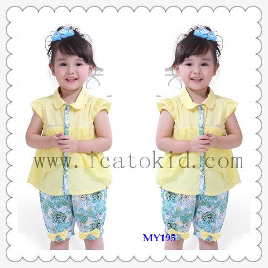 Wholesale Baby Children Summer Knit Wears Suit Children Clothing