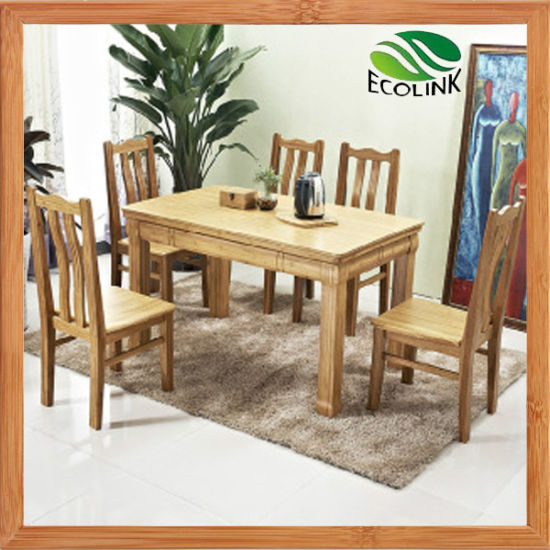 Bamboo Furniture Set Dining Room Table Chair