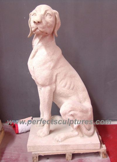 Stone Marble Dog Animal Sculpture for Garden Statue (SY-B101) pictures & photos