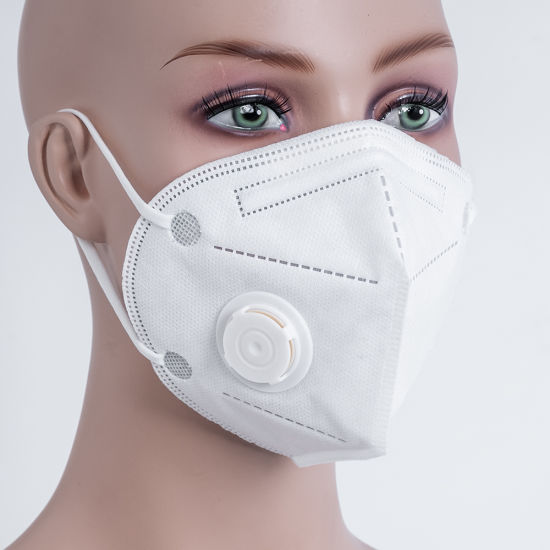 Non Woven KN95/N95/FFP2 Air Mask 5 Layers Face Shield Customized Printing Adjustable Nose Bar Mouth Mask
