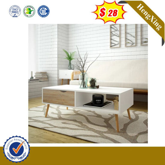 Natural Wood Color Foshan Furniture Coffee Desk Knock Down Coffee Table (Hx-8nr0864)