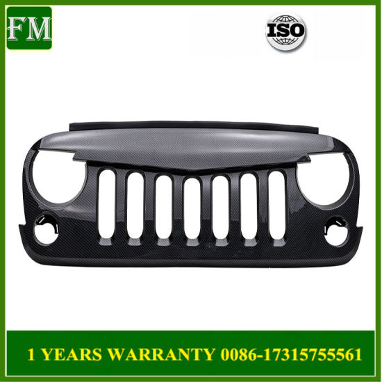 Carbon Fiber Angry Bird Grille for Jeep Wrangler Rubicon Accessories2007-2017 pictures & photos