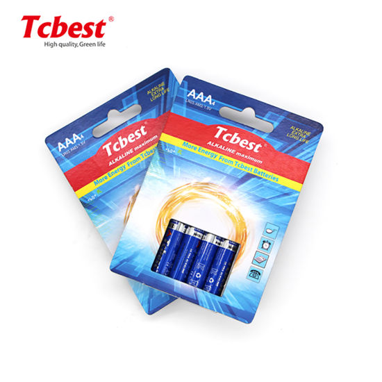 Factory Supplier Dry Battery AA Lr6 Lr03 Am4 1.5V Battery AAA Alkaline Batteries Primary Toy Batteries for Home Use/ Flashlights