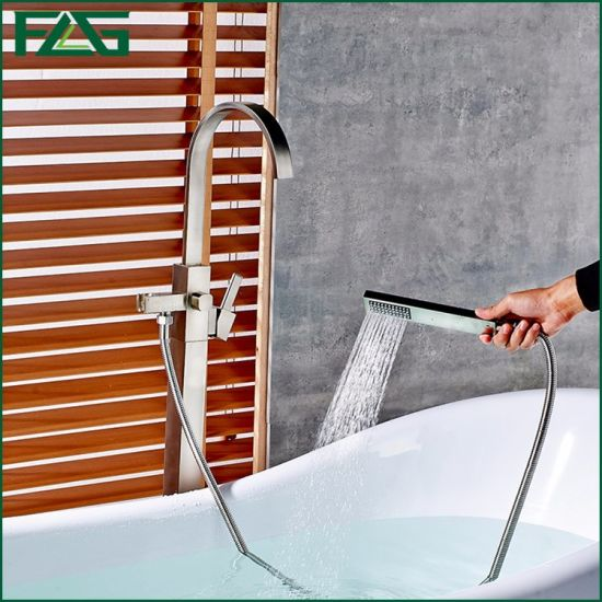 Flg Bathroom Floor Standing   Faucet
