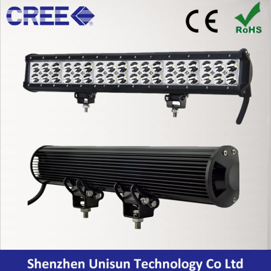 Waterproof 20inch 126W Dual Row CREE 3W LED Light Bar