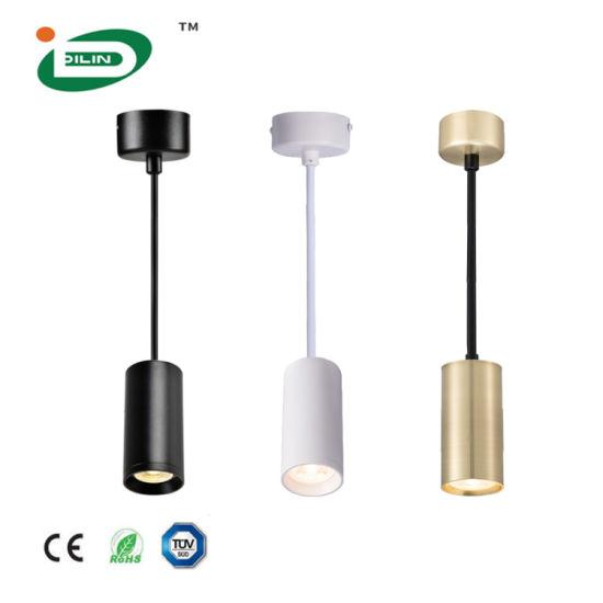 LED Pendant Lamp GU10 Modern Aluminum Light Fixture Ceiling Cylinder Pendant Lamp Suspended LED Lighting