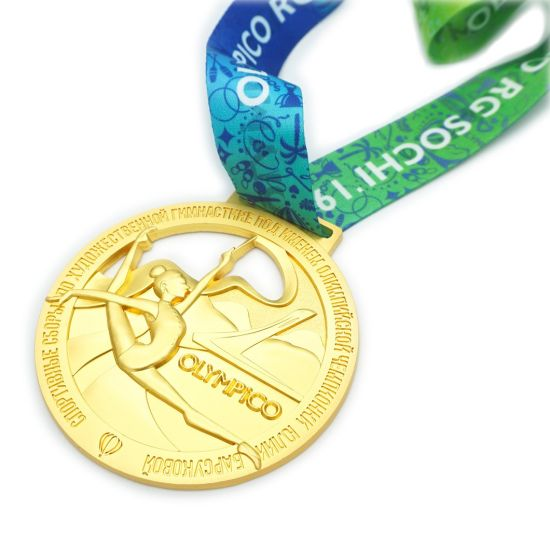 Bulk Wholesale Free Design Prize Souvenir United Nations Metal Gold Custom Sports Medal with Hanger (FTMC2040)