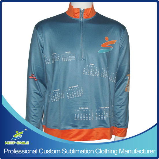 Custom Designed Full Sublimation Premium 1/4 Zipper Coat