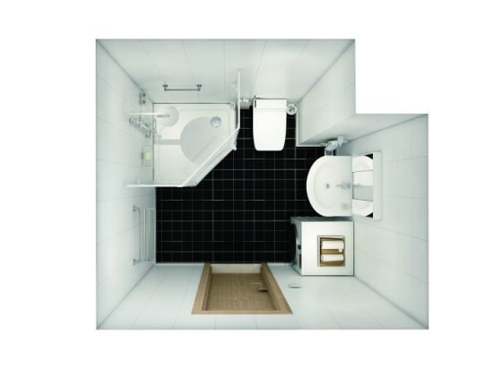 Prefab Modular Bathroom Shower Toilet Shower Stall Cabin with SGS, Med, Imo Certification