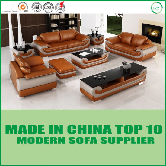 Modern Miami Furniture Leisure Sectional Leather Sofa pictures & photos
