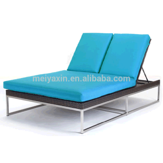 Double Seat Lounge with Comfortable Cushions