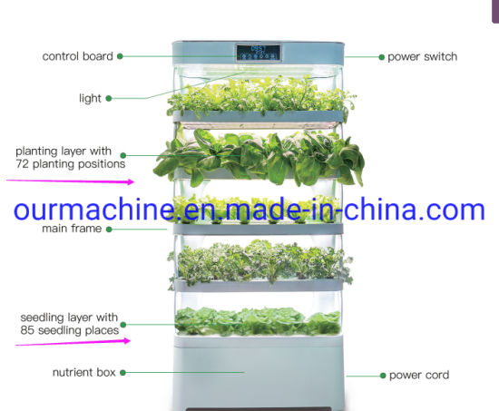 Urban Indoor Vertical Garden Cultivator Commercial Price with LED Lights